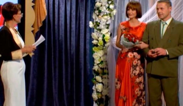 Свадьба Натальи и Владимира состоялась прямо на съемках телешоу