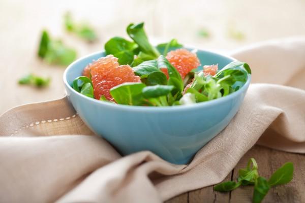 Рецепт                  Постный салат из рукколы и грейпфрута