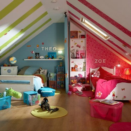 Дизайн детские комнаты для мальчика и девочки