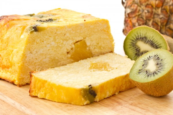 Рецепт                  Творожная запеканка с киви и ананасами