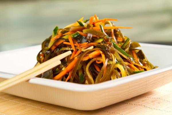 Рецепт                  Постный салат из морской капусты