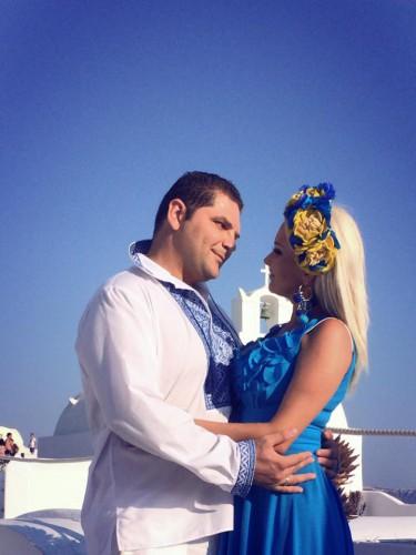 Катя Бужинская с мужем Димитром