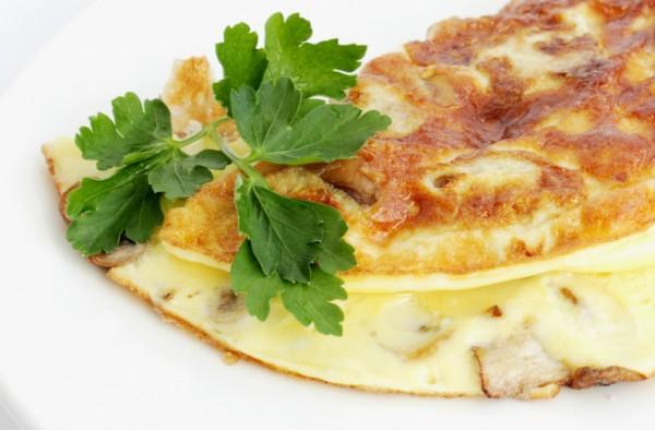 Рецепт                  Омлет с грибами и зеленью