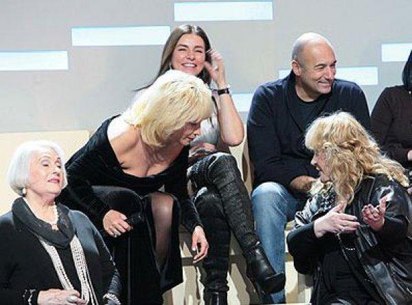 Ирина Аллегрова и Алла Пугачева на съемках программы ДОстояние РЕспублики