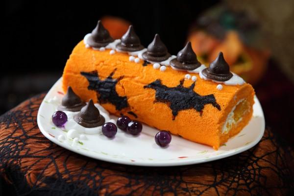 Рецепт                  Рецепты на Хэллоуин: Рулет Летучая мышь