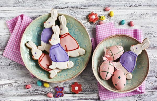 Печенье в виде кроликов на Пасху