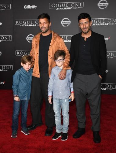 фото Рики Мартина с детьми и бойфрендом