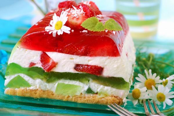 Желейный торт не требует выпечки
