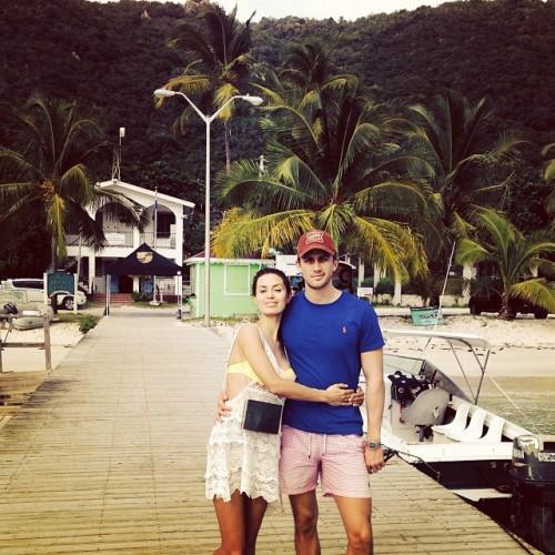 Виктория Боня с гражданским мужем на отдыхе