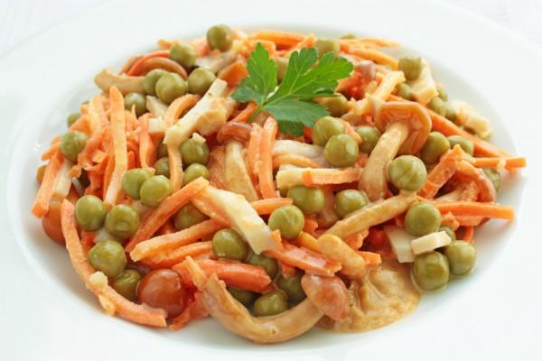 рецепт салата с ветчиной и грибами слоями