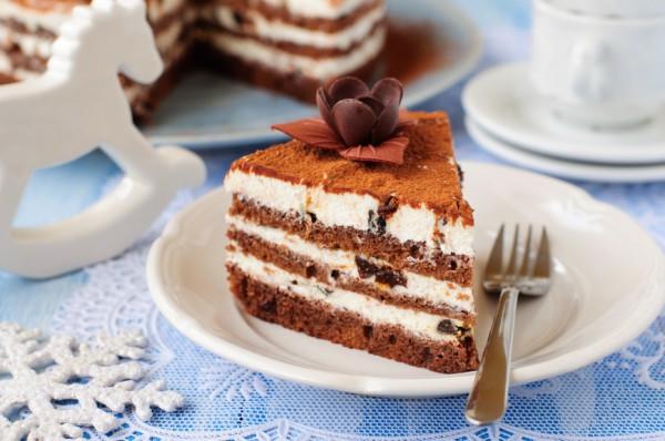 Рецепт                  Новогодний шоколадный торт с черносливом