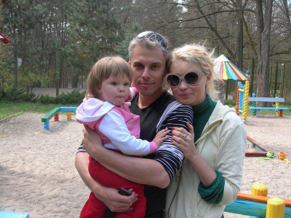 Лидия Таран с экс-супругом и дочкой Васей