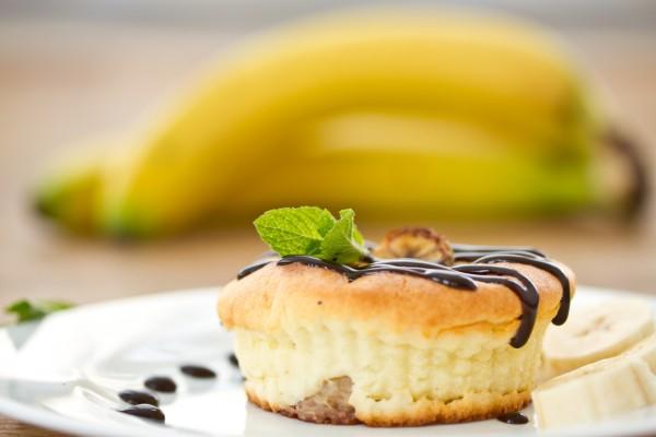 Рецепт                  Порционные творожные запеканки с бананами