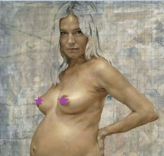 Сиенна Миллер перед родами