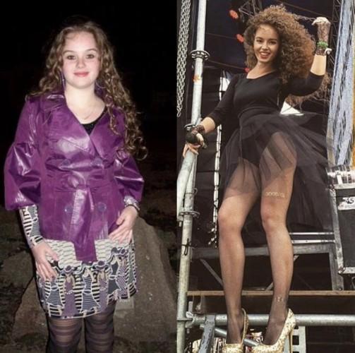 Алина до и после похудения