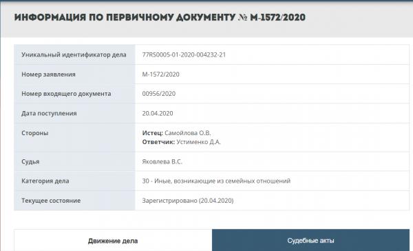 Самойлова подала заявление на развод с Джиганом