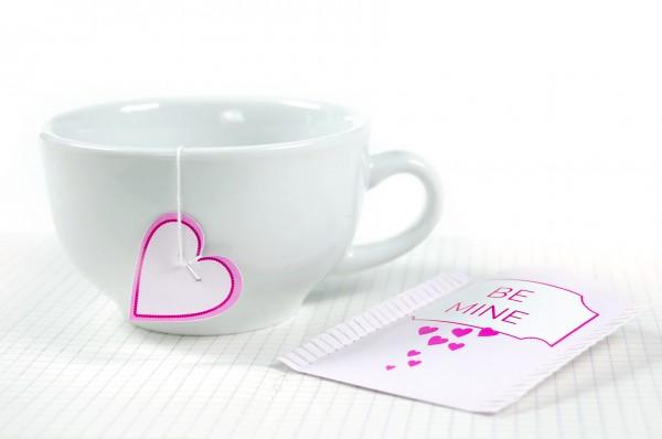 Чайный пакетик-валентинка