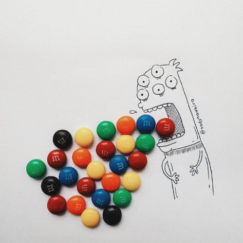 Фуд-арт из конфет
