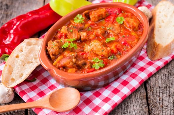 Рецепт                  Гуляш с болгарским перцем