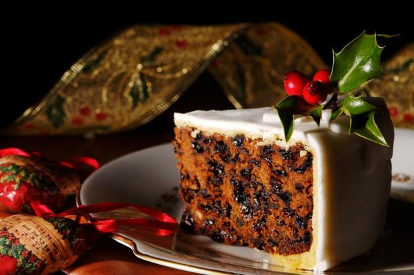 Рождественский кекс с мастикой