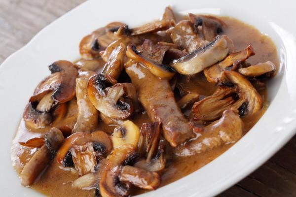 рецепт из курицы с грибами рецепт на сковороде с молоком