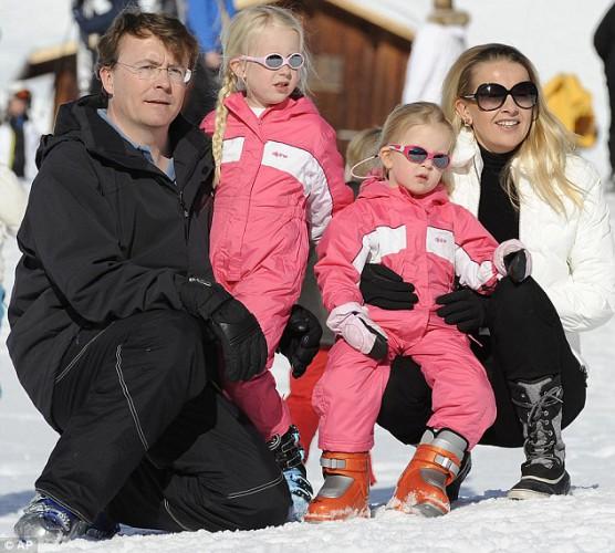 Йохан Фризо со своей семьей