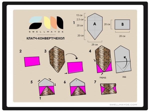 Схема клатча-конверта