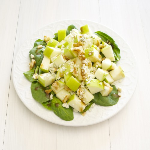 Рецепт                  Яблочный салат с сыром