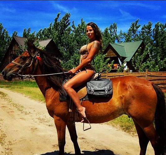 Елена Беркова в отпуске