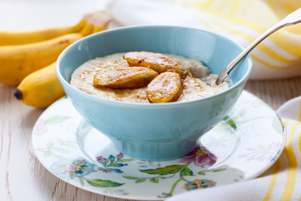 Рецепт                  Овсяная каша с бананами