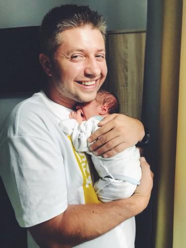 Алесандр Бережок с сыном