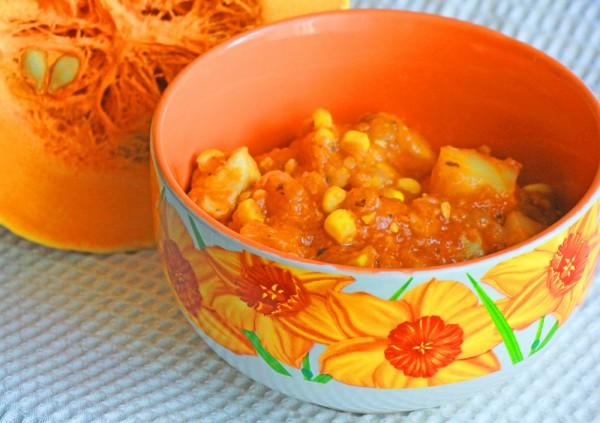Рецепт                  Тыквенное жаркое с курицей