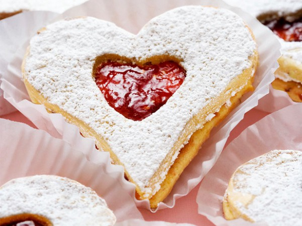 Рецепт                  Валентинки своими руками: Сердечки с джемом