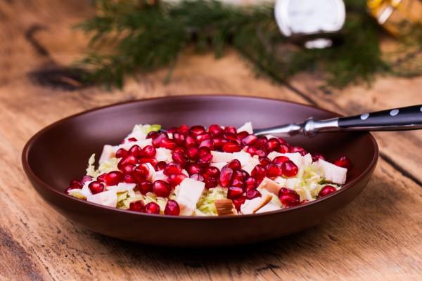 Новогодний салат с гранатом