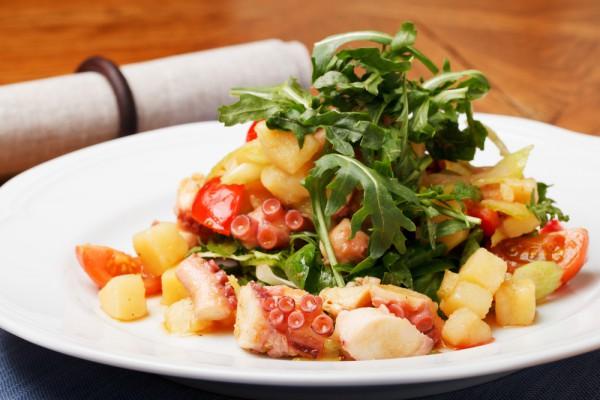Рецепт                  Картофельный салат с осьминогом