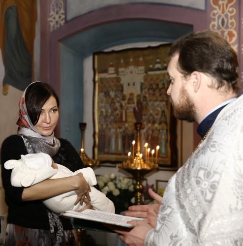 Юлия Айсина стала крестной