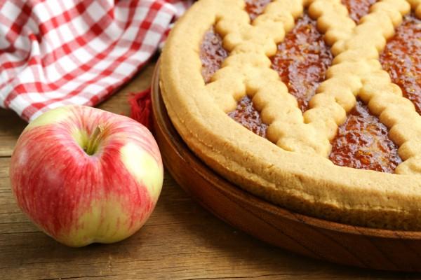Линцерский торт с яблоками