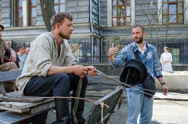 Олег Туранский на съемках сериала