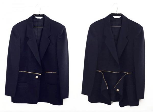 Длинна двух молний должна совпадать с шириной пиджака