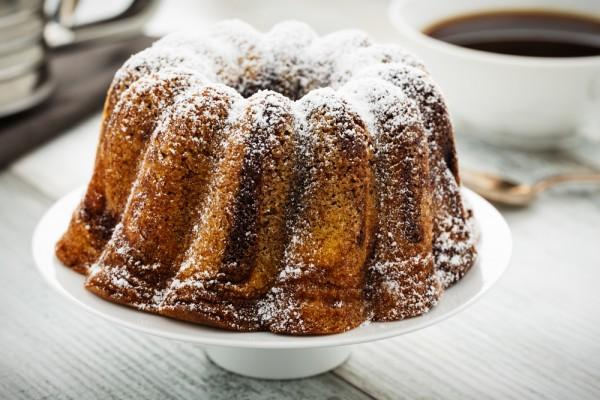 Постный кофейный пирог