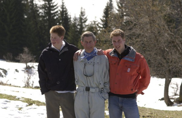 Принц Чарльз с сыновьями