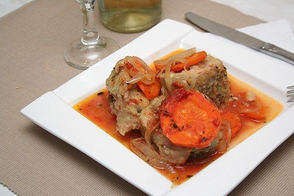 Рецепт                  Рыба в томатном соусе