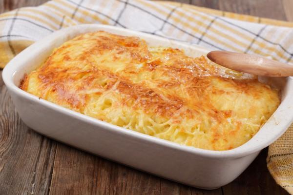 Рецепт                  Картофельная запеканка с луком и сыром
