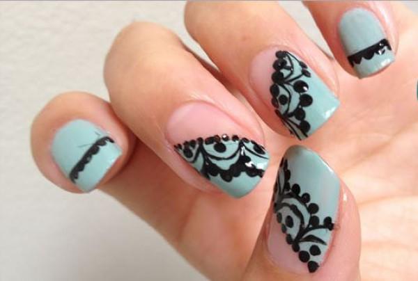 модный дизайн ногтей зима 2014.  Стиль. ...цветочки оставим в летнем сезоне, ведь такой дизайн подходит не для всех...