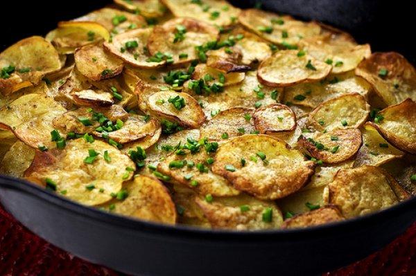 Блюда из картофеля на сковороде