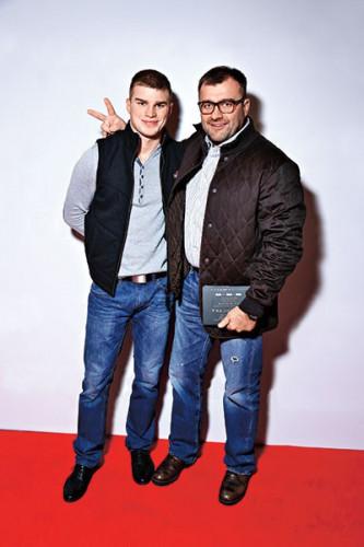 Михаил Пореченков с сыном Владимиром Любимцевым
