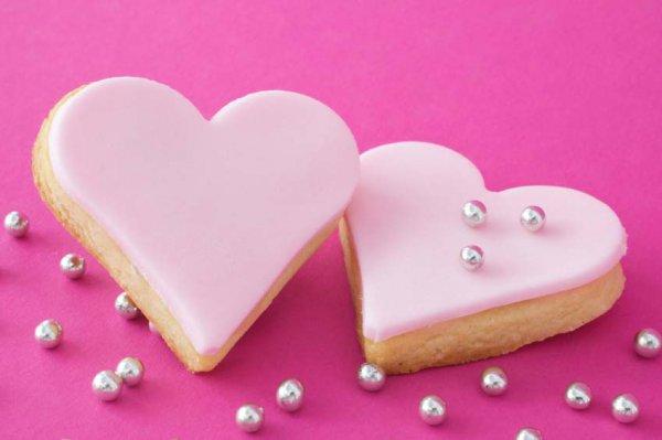Рецепт                  Печенье в форме сердечек на День святого Валентина