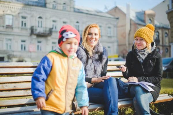 Надя Пасичнюк на интервью со спортсменкой Яной Клочковой