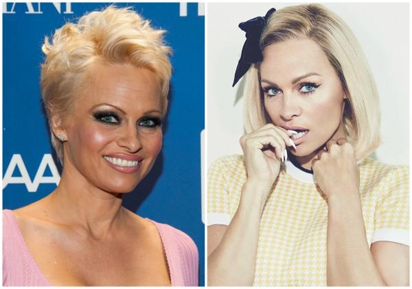 Памела Андерсон раньше и сейчас (справа)