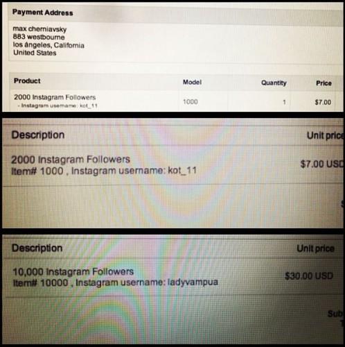 Муж Анны Седоковой покупает подписки на свой Instagram